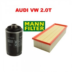 OEM MANN OIL FILTER AIR FILTER KIT SET 2PCS FOR AUDI VW