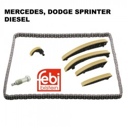 ENGINE TIMING CHAIN KIT 7PCS FITS MERCEDES DODGE SPRINTER 2500 DIESEL 3500
