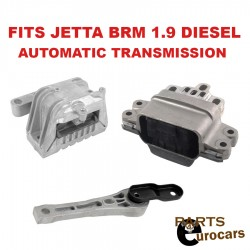 Motor Auto Transmission Mount Mounts Set kit 3pcs VW Jetta BRM Eng Diesel