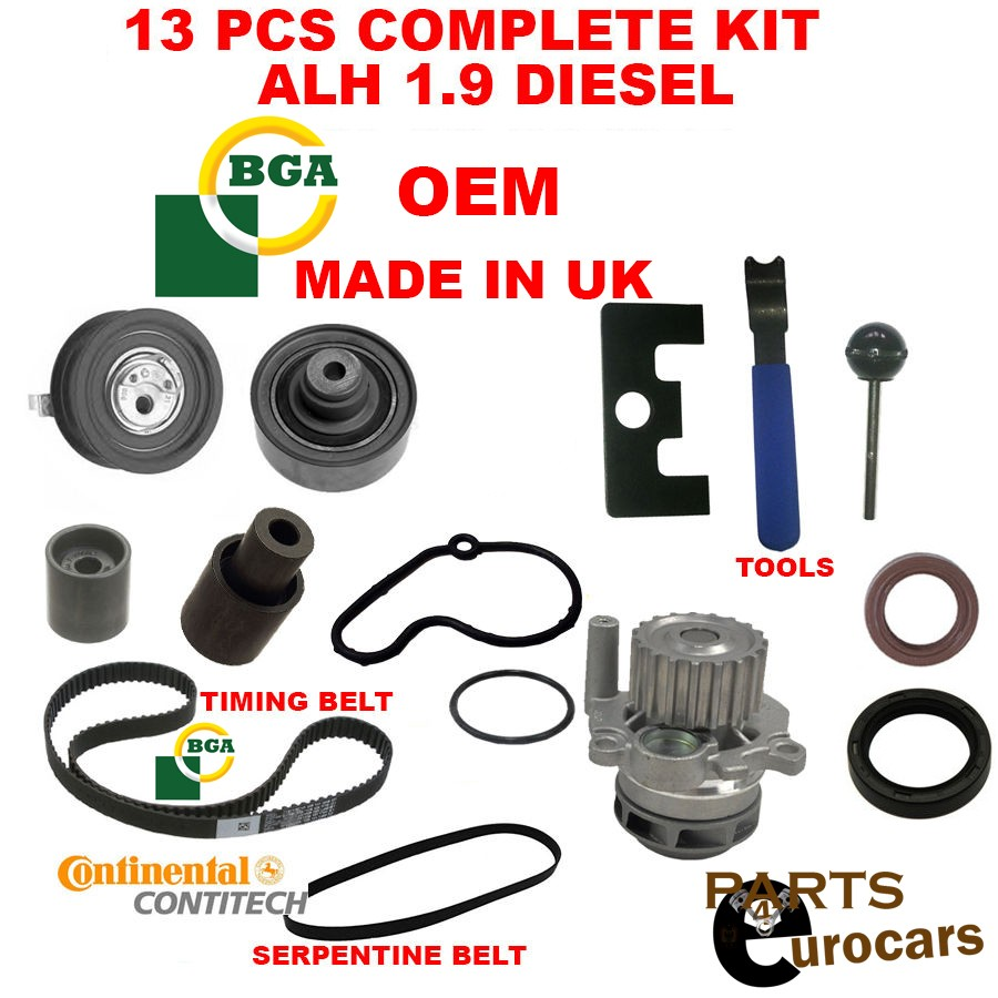 Oe bga alh tdi diesel vw golf jetta beetle timing belt kit w water pump 13pc parts 4 euro cars
