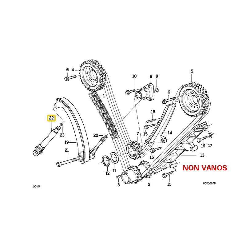 bmw non vanos timing chain diagram