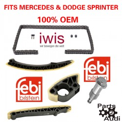 Engine Timing Chain Guides Kit 5pcs Fits Mercedes Dodge Sprinter