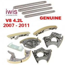 OEM Engine Timing Chain Tensioner Rails Chains Kit Fits Audi VW V8