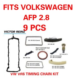 VW JETTA GOLF EUROVAN  VR6 for AFP ENGINES COMPLETE 9 pcs TIMING CHAIN KIT