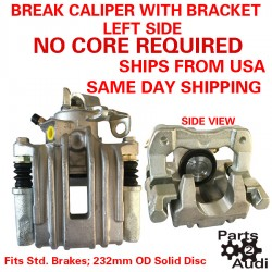 Left Side Disc Brake Caliper With Bracket Complete Fits Audi TT VW Jetta