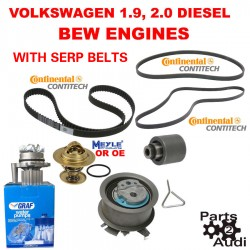 Timing Belt Water Pump Kit Fits VW Diesel BEW Timing Belt CONTI