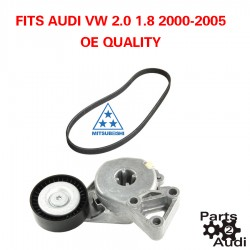 Alternator Belt Tensioner Assembly w Serpentine Belt Fits Audi VW 2.0 1.8