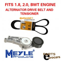 OEM Alternator Drive Belt and Tensioner Fits Audi Volkswagen TSI FSI BWT Eng