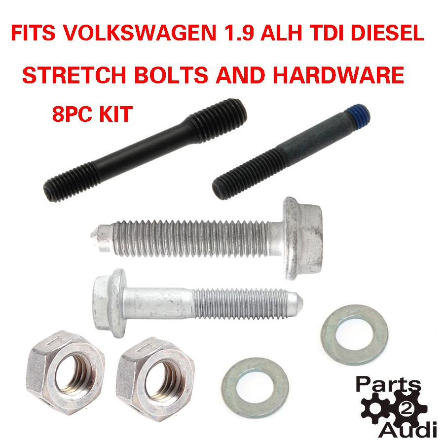 Alh tdi diesel vw jetta timing belt kit water pump stretch bolts and hardware parts 4 euro cars