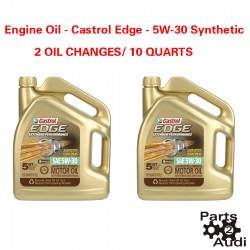 5 Quart Engine Oil Castrol Edge - 5W-30 Synthetic 2 Oil Changes 10 quarts Total