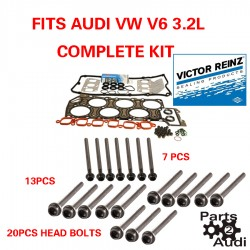 REINZ Engine Cylinder Head Gasket Set W Head Bolts For Audi A3 TT VW R32 V6