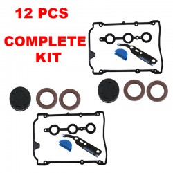 Valve Cover Engine Gasket Kit Set 14 pcs VW Passat Audi A4 S4 V6  PRO SET