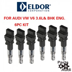 OE Engine Ignition Coil Set 6pc Kit For Audi VW V6
