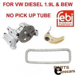 FEBI Engine Oil Pump with Chain and Tensioner rail Fits Diesel BEW