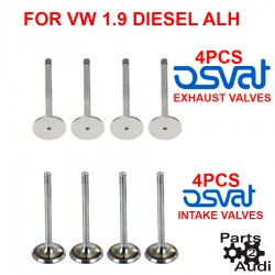 OSVAT Engine Intake Exhaust Valve Set 8pc Kit For VW Diesel ALH Jetta Golf