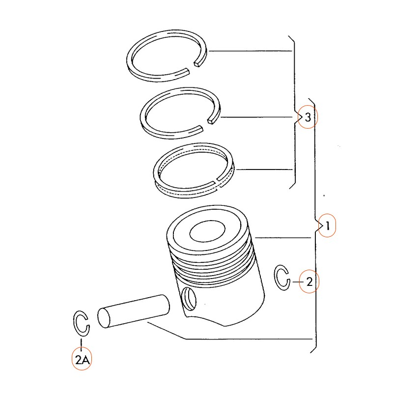 Kolbenschmidt Engine Piston Ring Set For Audi Vw Caeb And Ccta A6 Parts Diagram: 2004 Audi S4 Engine Diagram At Hrqsolutions.co