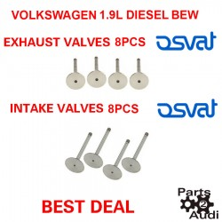 OSVAT Engine Intake Exhaust Valves Set 8pc Kit For VW Diesel BEW Eng