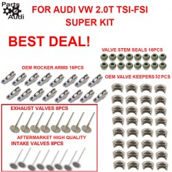 Engine Intake and Exhaust Valves Rocker Arms Keepers and Stem Kit Fits Audi VW TSI