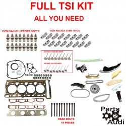 Super TSI Timing Chain Kit Cylinder Head Gasket Intake,Exhaust Valves,Lifters