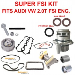 Super FSI Timing Belt Kit For Audi VW FSI Engine Hardware Drive Belt Cam Tensioner