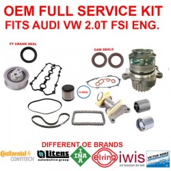 OEM Full Repair FSI Timing Belt Camshaft Follower Kit Audi VW FSI Drive Belt