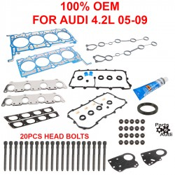 REINZ Cylinder Head Gasket Set w Head Bolts For Audi 4.2L