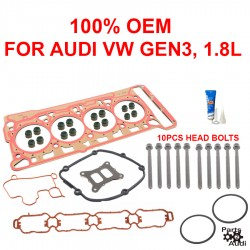 OEM Engine Cylinder Head Gasket Set w Head Bolts For VW 1.8 Gen3 TFSI