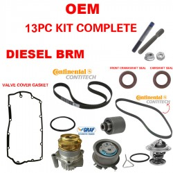 GATES Engine Timing Belt Water Pump 9pc Kit FOR VW Diesel BRM ONLY