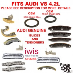 Engine Timing Chain Guides Tensioners Seals Audi A6 Quattro Allroad S4,4.2