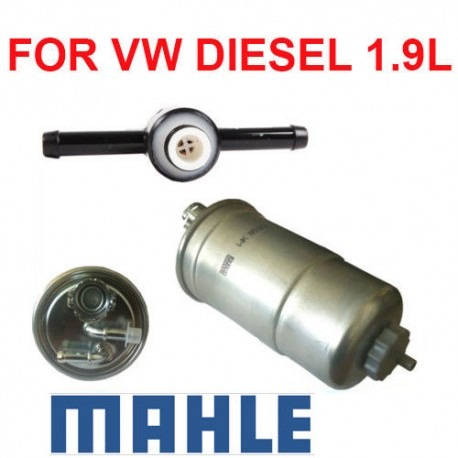 OE  Diesel Fuel Filter and Check Valve for VW Beetle Golf Jetta Passat