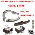 OEM Vanos Timing Chain Guide Rail Rails RT LT Chain and Cam Tensioners 6 PIECES FOR BMW E38 E39