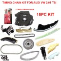 Timing Chain Kit Complete 15pcs For Audi VW 2.0T TSI CAEB and CETA ENG