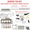 Super TSI Timing Chain Kit Cylinder Head Gasket Intake Exhaust Valves and Pistons