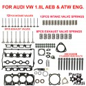 ENGINE CYLINDER Head Gasket Set W BOLTS  INTAKE EXHAUST VALVES AND SPRINGS VW AUD