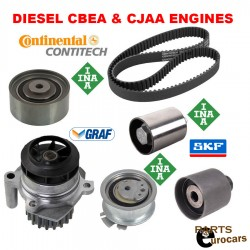 Timing Belt Kit Water Pump Tensioner Rollers Fits DIESEL VW CBEA & CJAA AUDI A3