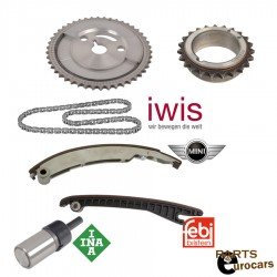 Engine Timing Chain Tensioners Rails Sprockets and Timing Chain Fits Mini Cooper