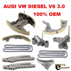 Engine Timing Chain Kit Guides Tensioners Fits Audi Q7 VW Touareg DIESEL