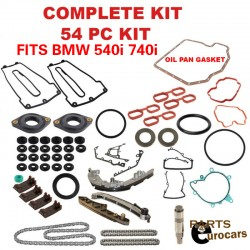 Timing Chain kit set,Gaskets set kit, Chain Guides and Rails Set 54pcs kit BMW