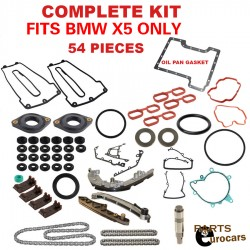 Timing Chain kit set,Gaskets set kit, Chain Guides and Rails Set 54pcs kit BMW FITS X5 ONLY