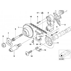 BMW CAMSHAFT TENSIONER DIAGRAM