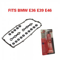 VALVE COVER GASKET SET WITH SEALER GROMMETS BOLT SEALS FOR BMW E46,E39
