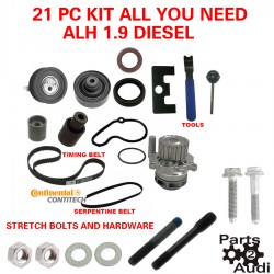 ALH TDI DIESEL VW JETTA TIMING BELT KIT WATER PUMP TOOLS STRETCH BOLTS 21PCS