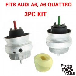 ENGINE MOTOR MOUNTS WITH TORQUE BUSHING SET FOR AUDI A6 3PC KIT