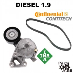 INA Drive Belt Tensioner Assembly with Conti Belt Kit Fits VW Beetle Golf Jetta