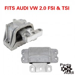 Engine Motor Mount Set Fits Audi VW TSI FSI 2pc Kit