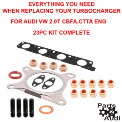 OE Turbo Installation Kit Exhaust Gaskets O-rings Studs and Locking Nuts For Audi VW CBFA and CCTA