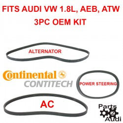 DRIVE BELT SERPENTINE BELTS AC ALTERNATOR AND POWER STEERING FITS AUDI VW AEB ATW