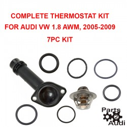 Engine Coolant Thermostat Housing Cover w Orings and Seals Thermostat Kit For Audi VW AWM Eng