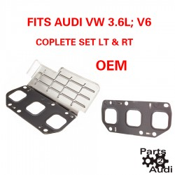 OEM Exhaust Manifold Gasket Set LT and RT For Audi VW V6