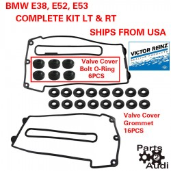 Engine Valve Cover Gaskets w Grommets Set Left & Right For BMW E38 E52 E53